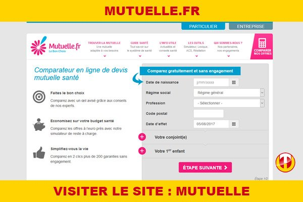 Site internet : Mutuelle