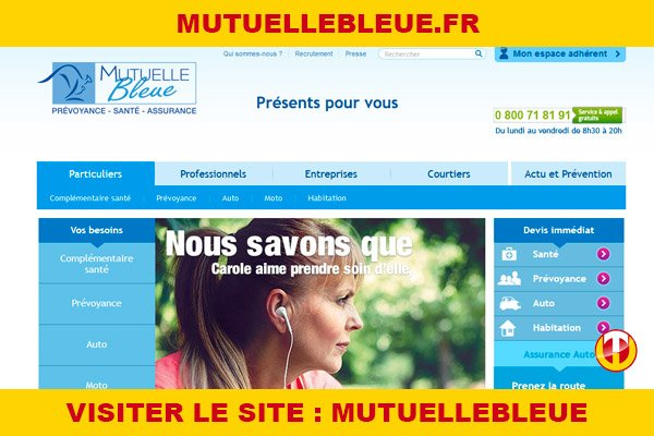 Site internet : Mutuellebleue