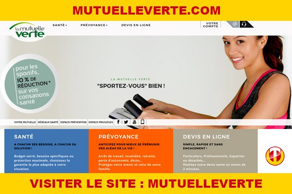 Site internet : Mutuelleverte