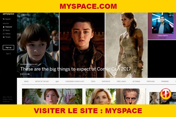 Site internet : Myspace