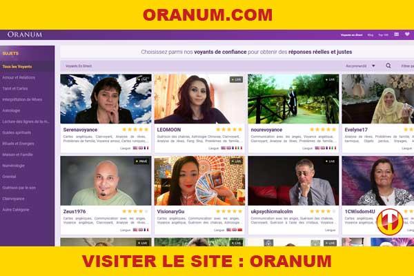 Site internet : Oranum