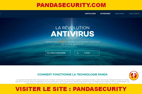 Site internet : Pandasecurity