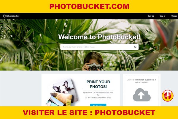 Site internet : Photobucket