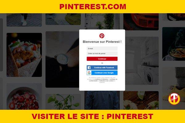 Site internet : Pinterest