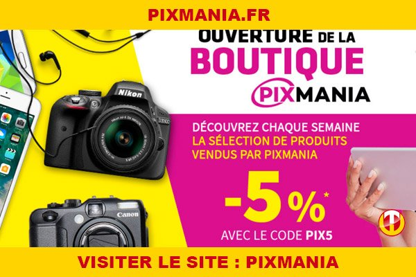 Site internet : Pixmania