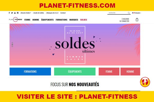 Site internet : Planet-fitness