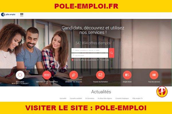 Site internet : Pole-emploi