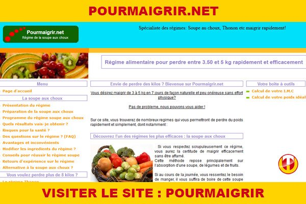 Site internet : Pourmaigrir