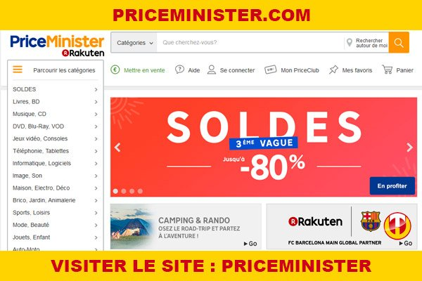 Site internet : Priceminister
