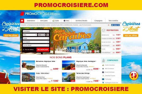 Site internet : Promocroisiere