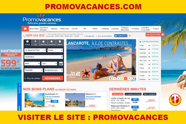 Site internet : Promovacances