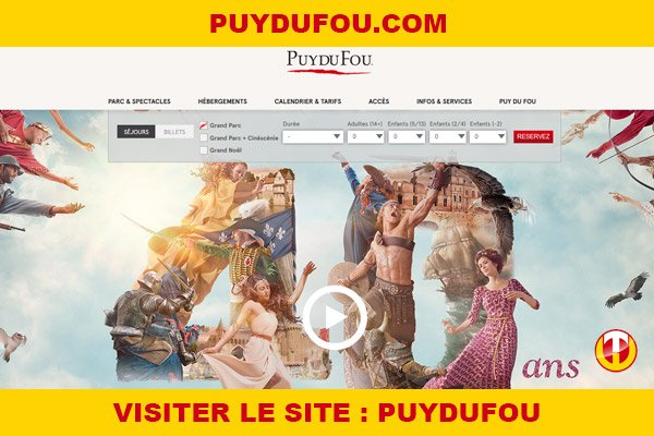 Site internet : Puydufou