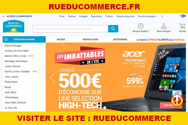 Site internet : Rueducommerce