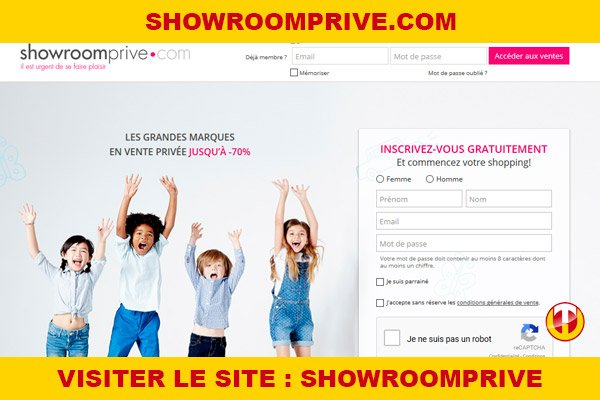 Site internet : Showroomprive