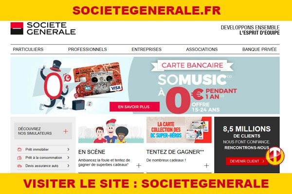 Site internet : Societegenerale