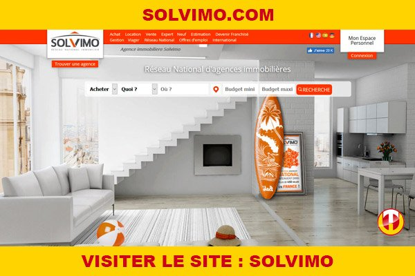 Site internet : Solvimo