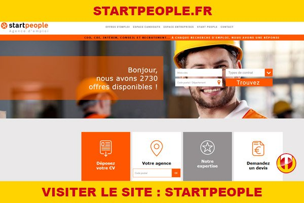 Site internet : Startpeople