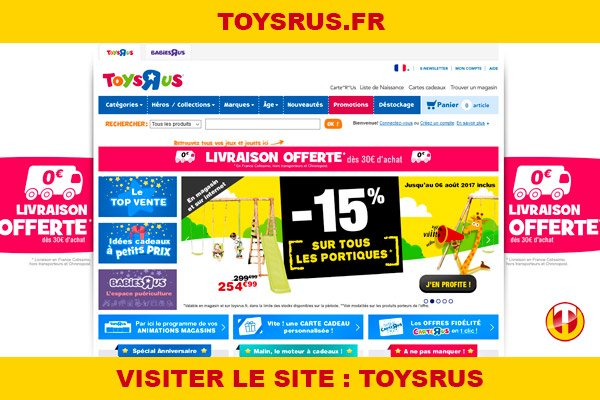 Site internet : Toysrus