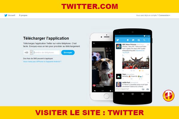 Site internet : Twitter