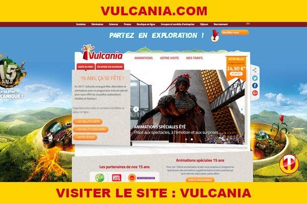 Site internet : Vulcania