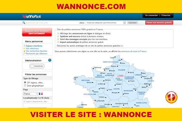 Site internet : Wannonce