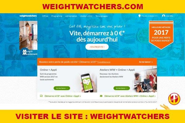 Site internet : Weightwatchers