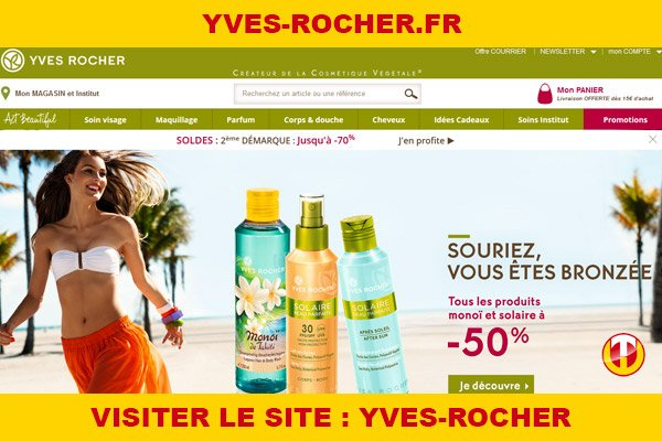 Site internet : Yves-rocher