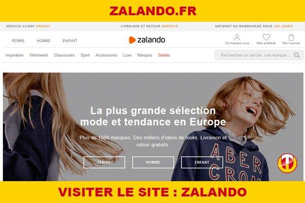 Site internet : Zalando