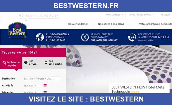 Bestwestern informations sur le site for Site hotel en ligne